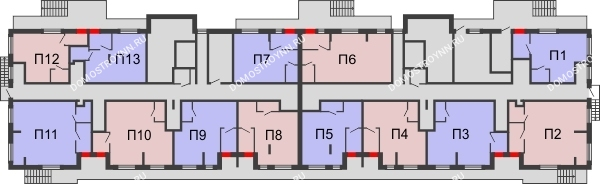 Жилой дом: Южное шоссе 38А - планировка 0 этажа