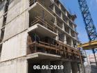 Ход строительства дома Литер 2 в ЖК Династия - фото 40, Июнь 2019
