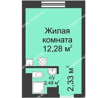 Студия 17,09 м² в ЖК Корабли, дом № 1 - планировка