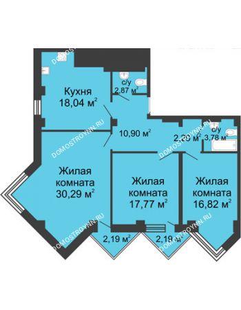 3 комнатная квартира 104,88 м² - ЖК С видом на Небо!