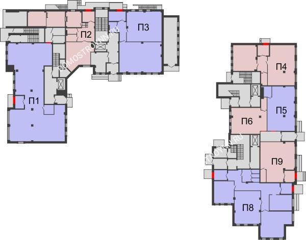 Планировка 1 этажа в доме №1 в ЖК Премиум