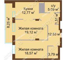 2 комнатная квартира 81,73 м² - ЖК Олимп