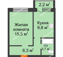 1 комнатная квартира 36,4 м² - ЖК Дом на Нижегородской