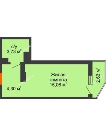 Студия 23,87 м² в ЖК Семейный парк, дом Литер 2