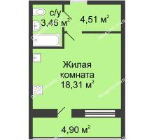 Студия 28,73 м² в ЖК Удачный, дом № 4