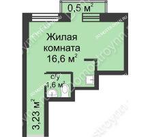 Студия 21,93 м² - ЖК Университетский